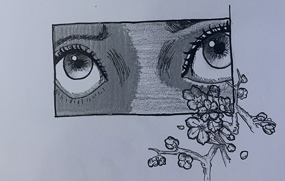Eyes With Flowers