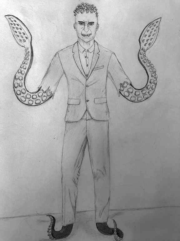 Man with Tentacles for Hands and Feet