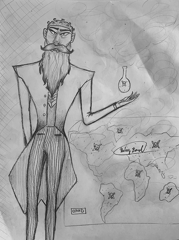 Man with Beaker and Map