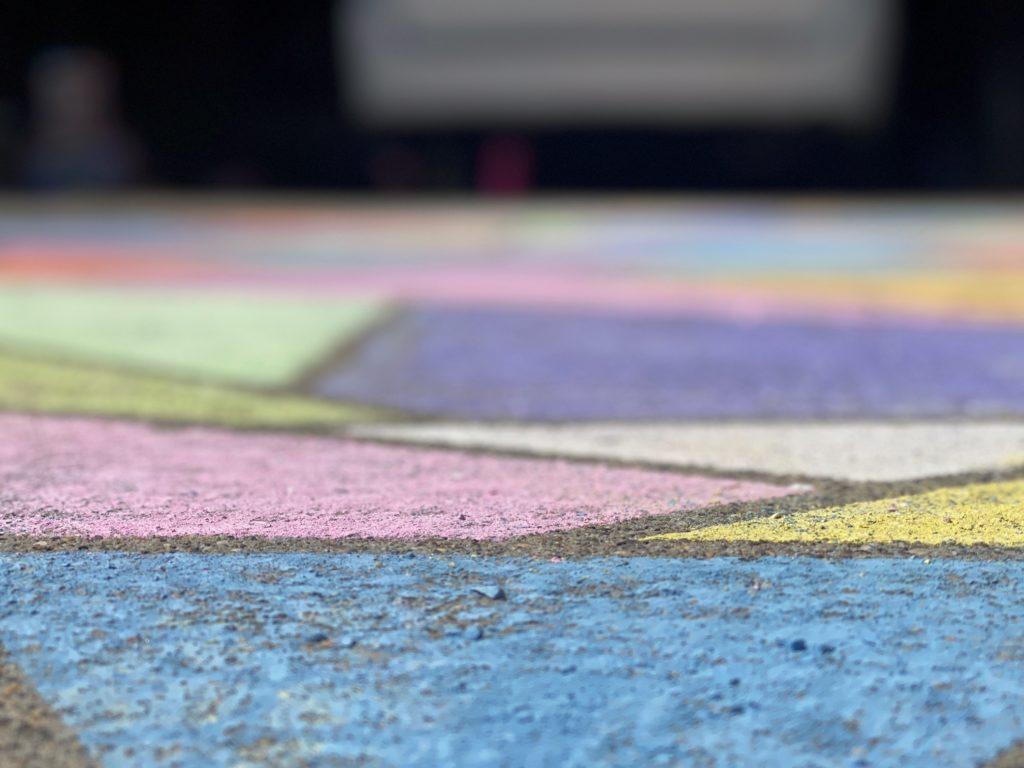 Photo of Geometric Chalk on the Sidewalk