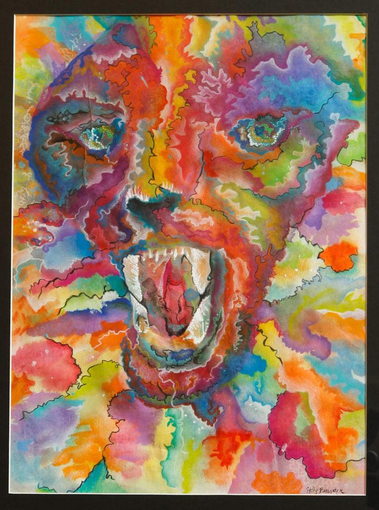 Multi Colored Cougar