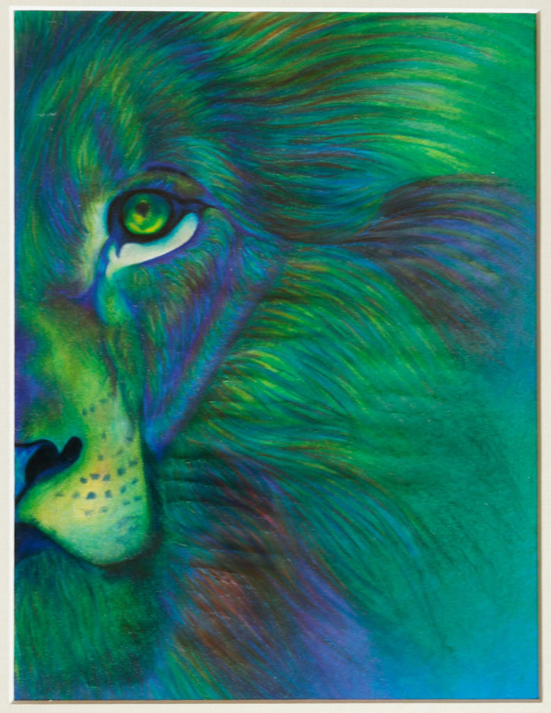 Blue and Green Lion