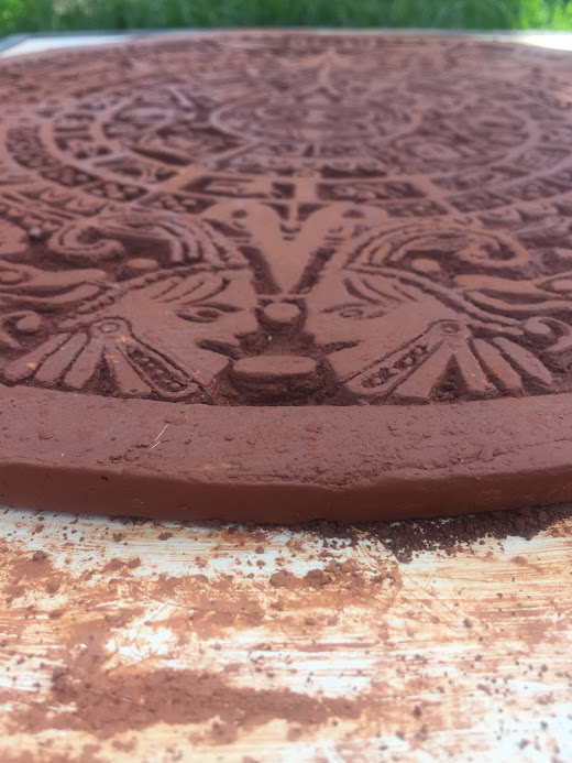 Tribal Ceramic Plate Side View