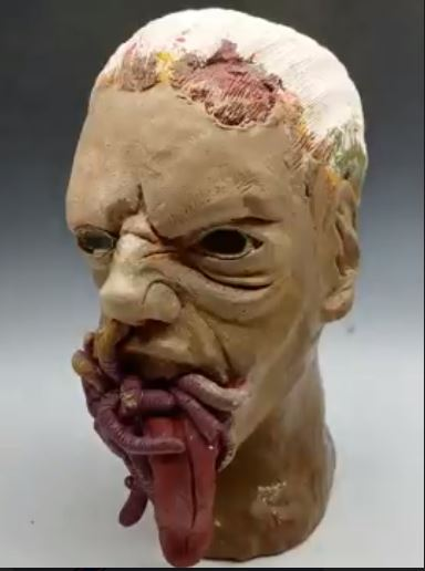 Ceramic Face with Tounge Out