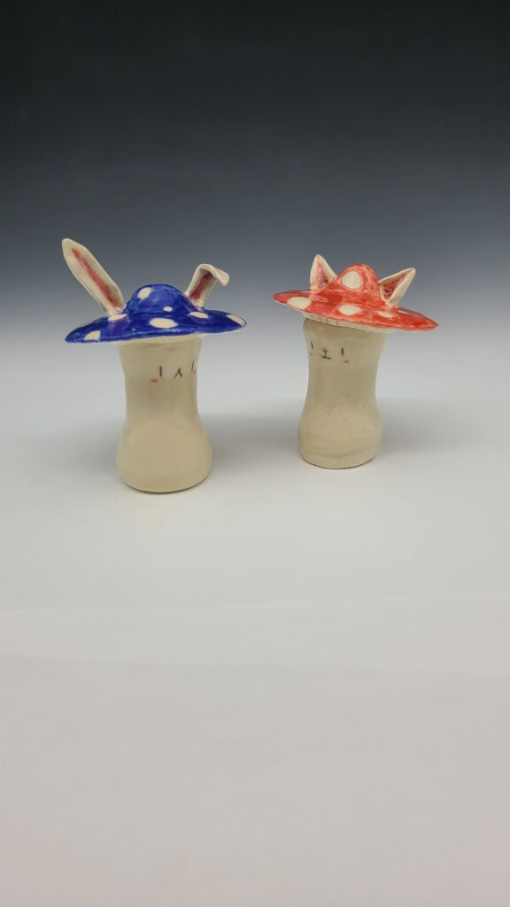 two bunnies with hats