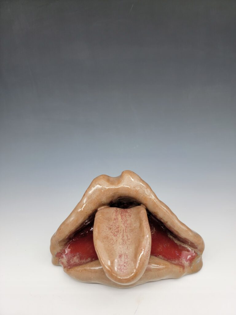 mouth with tounge sticking out