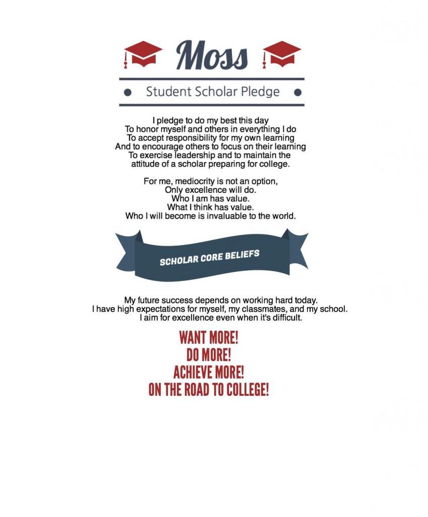 Moss Scholar Pledge image