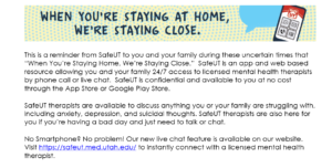 SafeUT available through summer