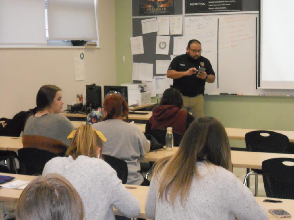 Mr. of Mr. Cardenas in classroom
