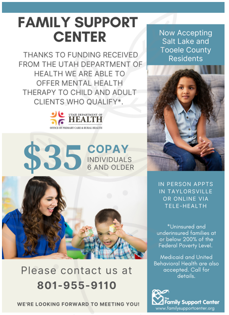 Reduced Fee Counseling from the Family Support Center