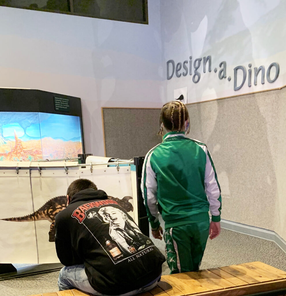 DSI/Gemstone students in the Design - a - Dino section of the Museum of Ancient Life at Thanksgiving Point in Lehi, UT